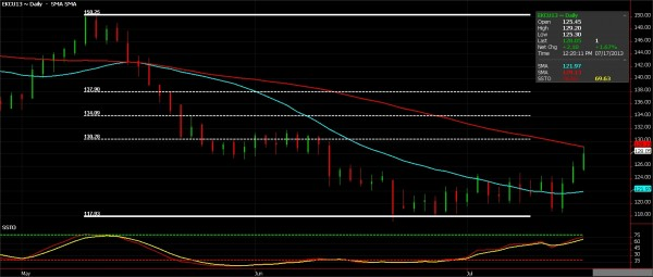 Coffee Futures (Daily), July 17, 2013