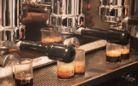 Espresso in making for Euro