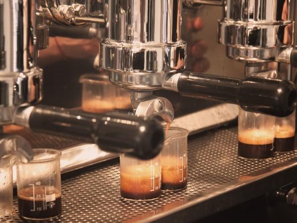 Espresso in making for Euro