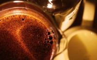 black coffee - macro shaky