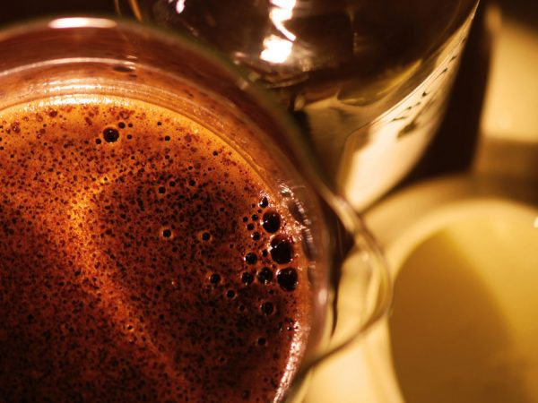 black coffee - macro shaky