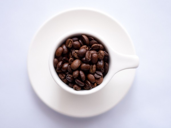 Coffee beans cup plate saucer - risky assets